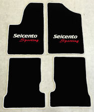 Autoteppich Fußmatten für Fiat Seicento silber rot 4teilig Neuware 1998 - 2010