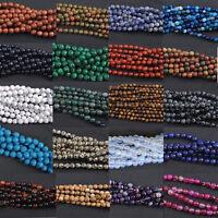 "16"" Strand GEMSTONE Crystal ROUND BEADS 8mm (45-50 Beads) Jewelry Making DIY"