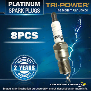 8 Tri-Power Platinum Spark Plugs for Land Rover Discovery 3 Range Rover HSE S SE