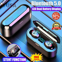 Bluetooth 5.0 Headset TWS Wireless Earphone Mini In-Ear Earbuds Stereo Headphone