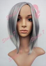 W107 Silver Grey Mid Length Bob Ladies Wig Natural Look - studio7-uk