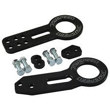 Front Rear Tow Towing Hook Kit Anodized Billet Aluminum JDMSPEED CNC Paint Black