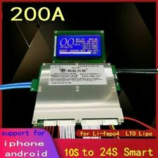 200A Bluetooth APP BMS Lithium Lipo Lifepo4 LTO Battery Protection Board 10S 24S
