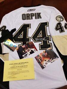 Brooks Orpik #44 Signed Rbk Pittsburgh Penguins Authentic Jersey Sz 52 *Original