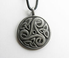 Celtic Triskelion Knot Amulet Pendant --- Irish/Medieval/Silver/Jewelry/Skyrim