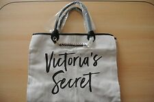 Victoria's Secret Canvas Travel Beach Shopping Tote Bag -Victoria's Secret Print