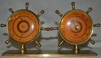 Vintage SWIFT & ANDERSON Brass Ship's Nautical Thermometer and Barometer