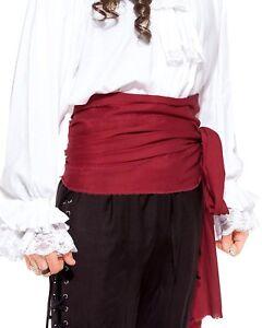 "Pirate Sash Long Linen Waist Sash 144"" x 10"" Multi Use Costume Accessory"