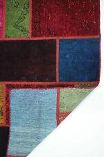 moderne Patchwork Délavé Used Look PERSAN TAPIS tapis d'Orient 2,38 x 1,74