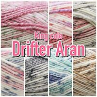 King Cole Drifter Aran Weight Pastel Variegated Knitting Wool Yarn 100g Ball