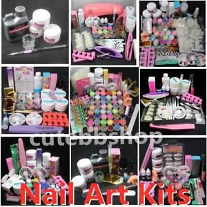 Pro Acrylic Nail Art Tool Kit Set 150ml Acrylic Liquids Acrylic Powder DIY Tools