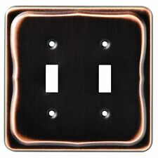 Brainerd (144405) Bronze Double Toggle Light Switch Cover w/ Copper Highlights