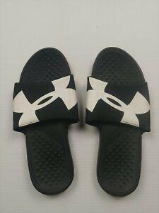 Slip On Sandals- Size 10 - Black - Under Armour