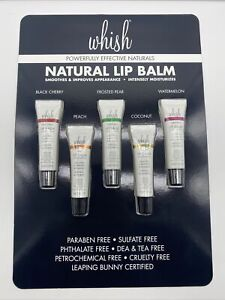 NIB Whish Intensely Natural Lip Balm Set 5 Pieces