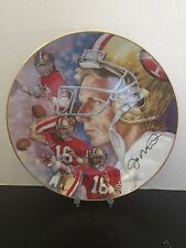 LIMITED EDITION - Gartlan Joe Montana - A State of Excellence - Collectors Plate