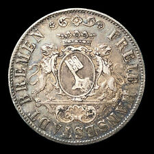 1840 German States Bremen 36 Grote KM #233 Foreign Silver Coin Low Mintage