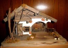 Krippenstall - Holz mit LED-Beleuchtung