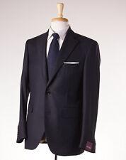 NWT $3495 SARTORIA PARTENOPEA Charcoal Stripe Super 130s Wool Suit US 48 R