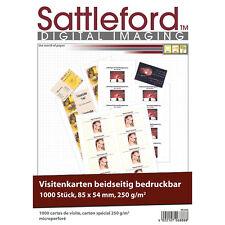 1.000 Visitenkarten, microperforiert, Inkjet & Laser, 250g/m², 85 x 54