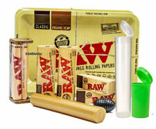 10+ Items-1 1/4 Raw Rolling Bundle - Rollers,Papers,Tray,Case, Tips,Tube,