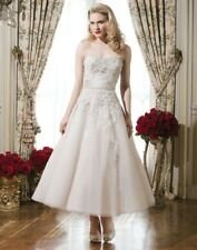 Justin Alexander 8750 Tea Length Wedding Dress UK Size 14