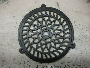 """LARGE ROUND CAST IRON AIR VENT - powder coated - GRILLE COVER 8"""" 1/8 or 205mm"""