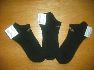 Womens NWT Adidas No-Show Socks 3prs Black Light Cushioning Arch Support Sz:M-L