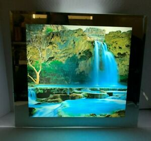 Framed Light Up Animated Waterfall Picture With Sound