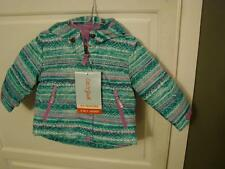 Cat & Jack 3 In 1 Teal Purple Colored Jacket Size 12M Brand New With Hood