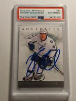 2012-13 UD Artifacts Vincent Lecavalier PSA/DNA authenticated Auto MINT