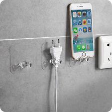2PCS Wall Storage Hook Power Plug Socket Holder Wall Adhesive Hanger Home Office