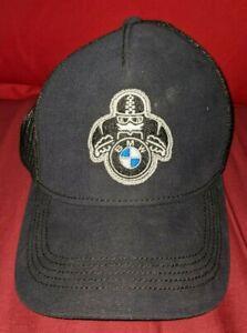 ORIGINAL BMW MOTORRAD ROADSTER CAP SNAPBACK ADJUSTABLE HAT NAVY BLUE & BLACK EUC