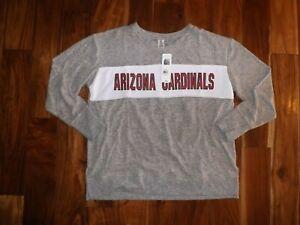 NWT Womens NFL ARIZONA CARDINALS Heather Gray White Pullover Sweater M Medium
