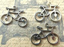 Bicycle charms silver tone pendant retro vintage style