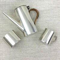 Antik Kinder Tee Satz Kaffeekanne Krug Miniatur Sahnekännchen Versilbert
