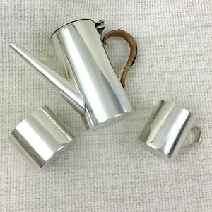 Antique Children's Tea Set Coffee Pot Jug Miniature Creamer Silver Plated