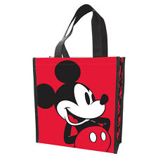 """New DISNEY Grocery Shopping Tote MICKEY MOUSE Gift Bag Shopper 12""""x10"""" Red Black"""