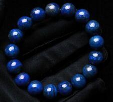 Stretch Crystal Beads Bracelet Aaaaa 11.5mm Natural Royal Blue Lapis Lazuli
