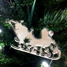 Mirroring BABBO NATALE SLITTA Decorazioni Albero Di Natale - Confezione da dieci