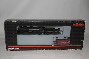 MARKLIN Z SCALE #88812 C&O CHESAPEAKE & OHIO 2-8-2 STEAM LOCOMOTIVE & CABOOSE
