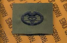 US Army CMB Combat Medical Badge OD Green & Black cloth patch