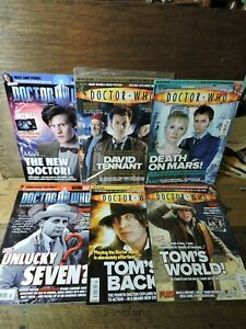 Lot 6 Modern Tenth Doctor Who Pop Culture British TV PANINI Sci-Fi Magazines