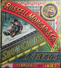 1883 Rare Russell & Morgan Trimmed Calendar Playing Cards MFG Chromolithographic