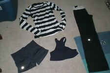 Lot of Lululemon Astro Pants, Ebb Shorts, Long Sleeve Top and Bra sz 4
