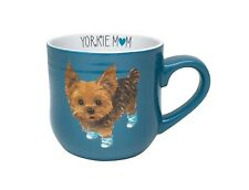 New Belle Maison Teal Green / Blue Cup Yorkie Mom Puppy Dog Sneakers Cofee Mug
