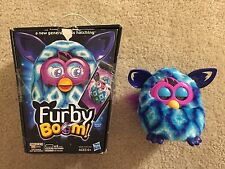 Hasbro Furby Boom Blue Waves Turquoise White 2012 with Box