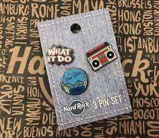Hard Rock Cafe HRC NEW YORK NYC 3 Pin Set Lapel Pins NEW Neu
