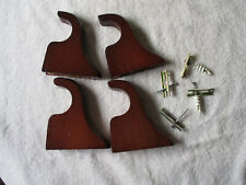 Set Of 4 Wooden Drapery Hardware Rod Brackets With Mounting Screws