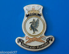 HMAS PERTH FFH 157 LAPEL BADGE ENAMEL WITH GOLD PLATING 20MM HIGH ADELAIDE CLASS