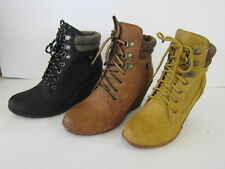 Textile Wedge Synthetic Boots for Women
